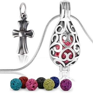 Jewelry - Lava Stone Diffuser Necklace, Teardrop Essential